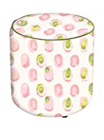 APOLENA Fodera Pouf (Blanco/Multicolor)