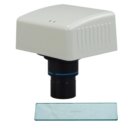 Omax 1.3Mp Microscope Digital Usb Camera With Advanced Software With 0.1Mm Calibration Slide