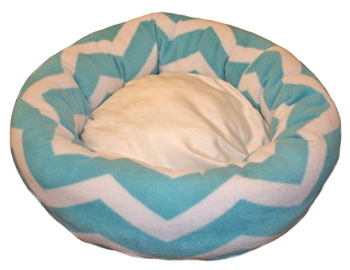 "Small To Medium Chevron Dog Bed Or Cat Bed | Made In Usa | 22"" Round 
