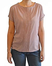 Onemm Women's Regular Fit Top (Onemm Style 5S, Pink , Small)