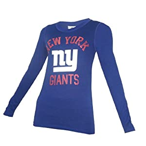 NFL York Giants Womens Pink Victoria's Secret Slim Fit Crew-Neck Long Sleeve Tee from Pink Victoria's Secret