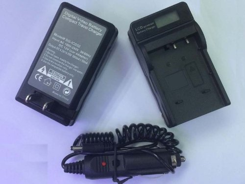 Battery Charger With Lcd Display For Jvc Bn-Vg114U Everio Gz-Mg750Bu Gz-Hd620Bu Gz-Hd500Bu Camcorder Car+Wall