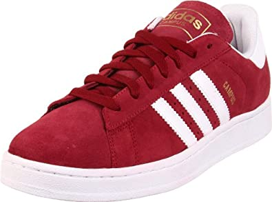 adidas Originals Men's Campus 2 Retro Sneaker,Cardinal/White/Metallic Gold,7.5 D US