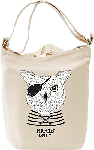 Pirate owl Borsa Giornaliera Canvas Canvas Day Bag| 100% Premium Cotton Canvas| DTG Printing|