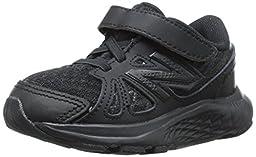 New Balance KV690I Uniform Running Shoe (Infant/Toddler), Black/Black, 3 M US Infant