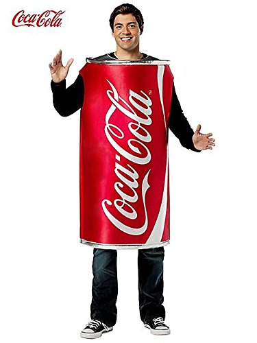 Unisex Coca Cola Can Tunic Adult Costume STD (Cocacola Can Costume)