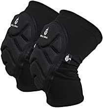 Pixnor A Pair of WOLFBIKE Unisex Extreme Sports Kneepads Knee Protector-Size M Black