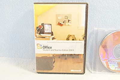 Microsoft Office Student and Teacher 2003 Part Number: X10-10212 With Serial Key Code-PC Computer Software Program CD-Rom Disc