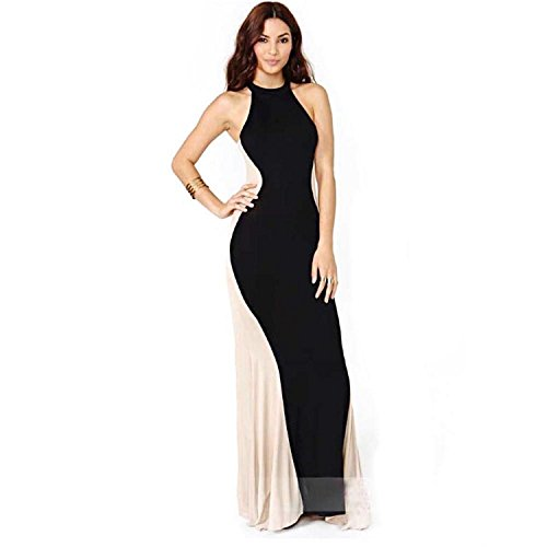 Aokdis Women Sleeveless Long Formal Ball Cocktail Prom Party Dress Gown (M)