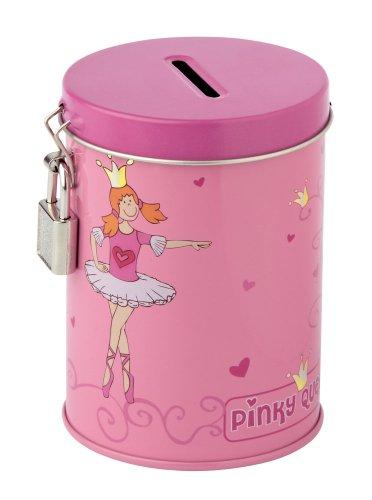 sigikid 23733 Pinky Queeny - Hucha metálica con llave y candado motivo de bailarina