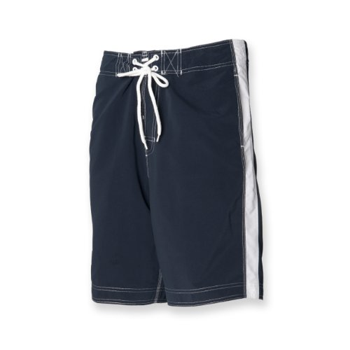 Men's Board Front Chunky Lace Tie Side Pockets Shorts Colour=Navy Size=Small