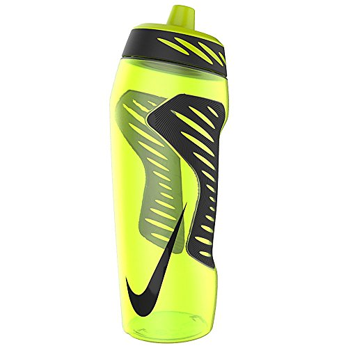 Nike Hyperfuel Water Bottle 24oz (volt/black) (Nike Flow Water Bottle compare prices)