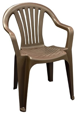 ADAMS MFG 8234-60-3704 Low Back Chair, Brown (Resin Outdoor Stacking Chairs compare prices)