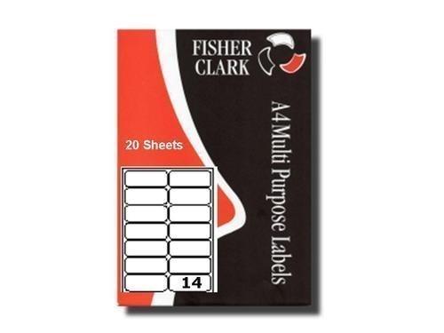Etiquettes Adresses Imprimantes Pk20 A4 14 par feuille Compatible Avery L716373