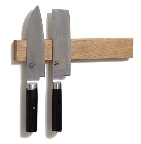 White Oak, Made in USA, M.O.C. Board 12 Inch Wood Magnetic Knife Holder or Magnetic Knife Strip