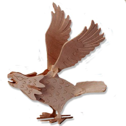3-D Wooden Puzzle - Small Falcon -Affordable Gift for your Little One! Item #DCHI-WPZ-E037