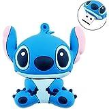 TopOne 8GB Cute Cartoon Stitch Shaped USB Flash Drive / Memory Stick -Blue