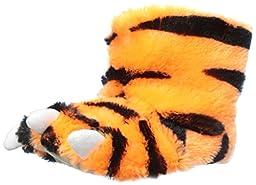 carter\'s Tiger Slipper (Toddler/Little Kid), Orange/Black, Large (9/10 L US Toddler)