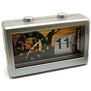Umbro Bedside Alarm Clock And Flip Calendar