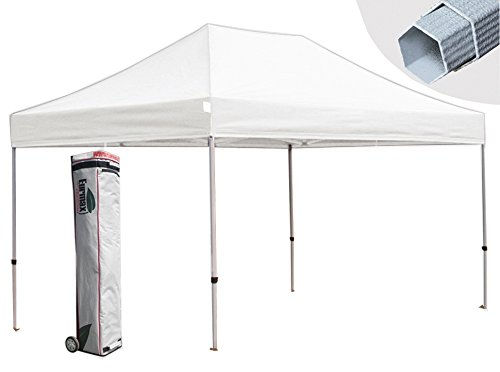 Eurmax Canopy Premium Display Shade Kit - Commercial Canopy Pop Up Tent With Roller Bag (White, 10X15) front-829311