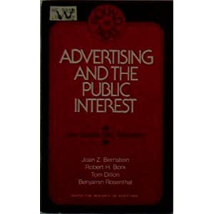 Advertising and the public interest: A round table held on June 10, 1976, and sponsored the American Enterprise Institute for Public Policy Research, Washington, D.C (AEI round table) (1976)