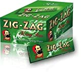 RIZLA 320 Zig Zag Green King Size Rolling Papers 10 Books Of 32