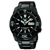Seiko 5 Sports Automatic Black Ion-plated Mens Watch SNZE99by Seiko