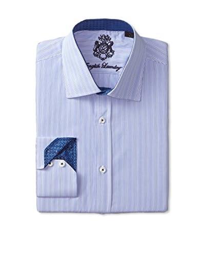 English Laundry Men's Tonal Stripe Long Sleeve Dress Shirt