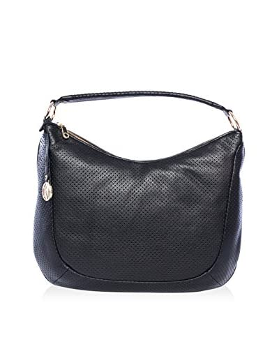 DKNY Women's Large Crosby Perforated Hobo, Black
