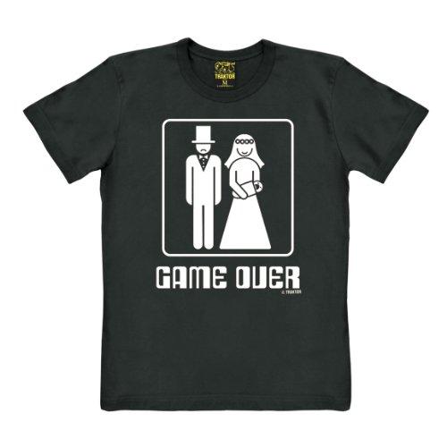 T-shirt Game Over - maglia Umoristica - Addio celibato - maglietta girocollo - nero - t-shirt originale della marca TRAKTOR®, taglia L