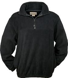 Colorado Timberline Men\'s Steamboat 1/4 Zip Fleece Pullover-LT (Black)