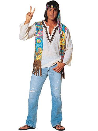 Men's (Faux Suede Hippie Vest Adult Costumes)