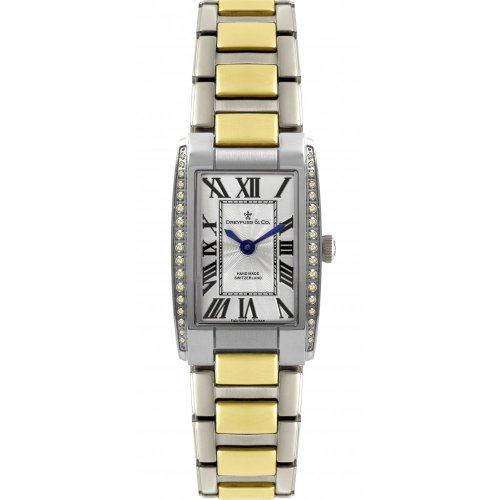 Dreyfuss & Co Ladies' Hand Made Diamond Encrusted Two Tone Bracelet Watch - DLB00052/D/01