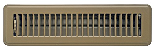 Accord ABFRBR212 Floor Register with Louvered Design, 2-Inch x 12-Inch(Duct Opening Measurements), Brown (Angled Floor Vents compare prices)