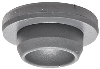 Wheaton W224100-173 Rubber 20mm Straight Plug Style Stopper, Gray Chlorobutyl/46 (Case of 1000)