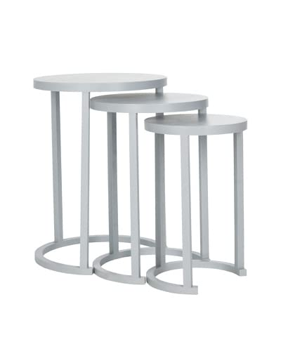 Safavieh Sawyer Stacking Table Set of 3, Medium Grey