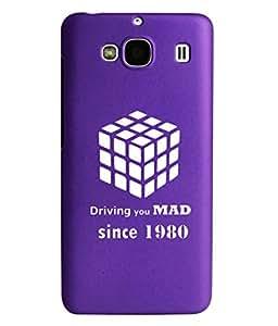 KolorEdge Back Cover For Xiaomi Redmi 2- Purple (2002-Ke15118Redmi2Purple3D)