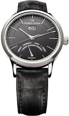Maurice Lacroix Les Classiques Jours Retrograde Automatic Black Dial Mens Watch LC6358-SS001-33E