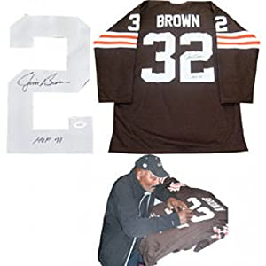 Jim Brown HOF 71 Autographed Signed Cleveland Browns Jersey (James Spence) by Hollywood Collectibles