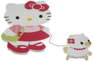 Bedtime Originals Hello Kitty and Puppy Wall Hanging - Pink (Discontinued by Manufacturer)