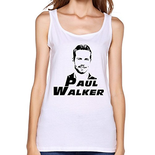 ZhaoHui Women's Short Sleeve Paul Walker Jersey Tank T Shirts XXL White