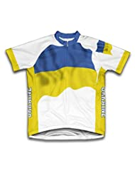 Ukraine Flag Short Sleeve Cycling Jersey for Women