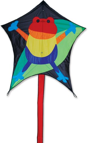 Premier 45974 5-Sided Polygonal Penta Kite with Solid Fiberglass Frame, Hopper