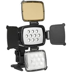 Projecteur vidéo professionnel à 10 LED ultra puissantes par Polaroid, pour caméscopes, appareils photo et reflex numériques