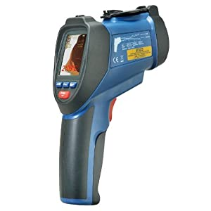 "WCI Pro High-Temperature IR Thermometer Dual Laser Pointer Gun With Photo And Video Camera And Data Logger - Instant °C Or °F Readings - Measures Temp., Type K, Wet Bulb, Air And Humidity - 2.2"" Color Display - For Electrical, HVAC, Food Service Etc."