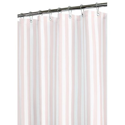 Best Tranquil Stripe Shower Curtain Color Pink White