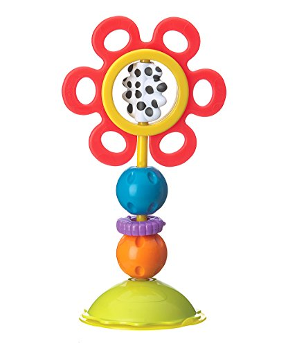 Playgro Baby Twist and Chew High Chair Toy-Red Flower