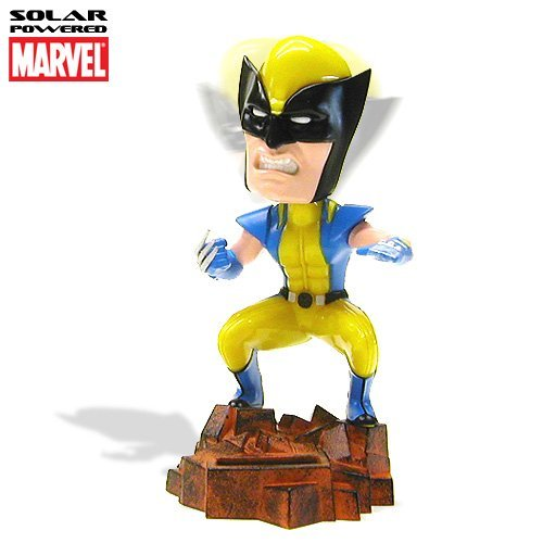 Marvel Comic Wolverine Solar Powered Bobble Head