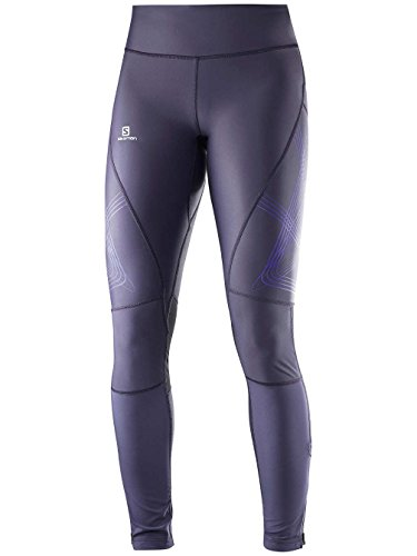 Salomon Intensity Halong Tight W - Calzamaglie da donna, colore Grigio, taglia XS