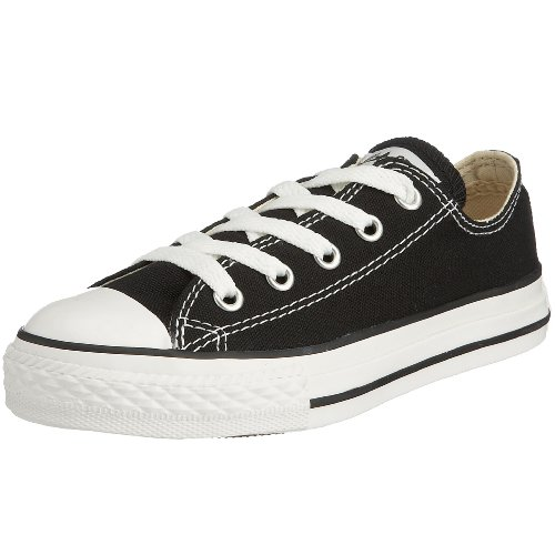 Converse Kids's CONVERSE CHUCK TAYLOR ALL STAR YTHS OXFORD BASKETBALL SHOES 3 (BLACK)